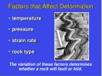 factors that affect deformation