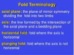 fold terminology