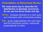orientation of deformed rocks