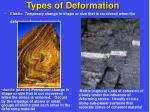 types of deformation