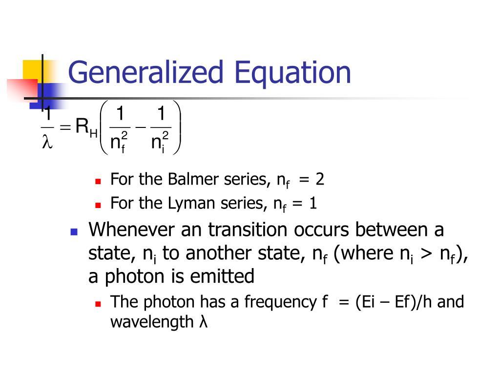 Generalized Equation