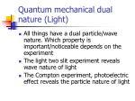 quantum mechanical dual nature light