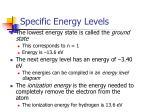 specific energy levels