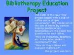 bibliotherapy education project1