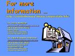 for more information http bibliotherapy library oregonstate edu