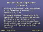 rules of regular expressions continued
