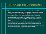 hipaa and the common rule