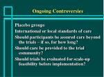 ongoing controversies