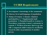 us irb requirements