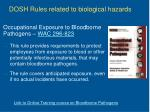 dosh rules related to biological hazards