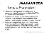 notes to presentation i