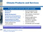 climate products and services