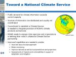 toward a national climate service1