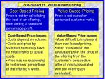 cost based vs value based pricing