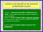 lessons to be learned on the economic fundamentals of price