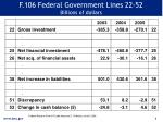f 106 federal government lines 22 52 billions of dollars
