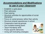 accommodations and modifications to use in your classroom