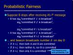 probabilistic fairness