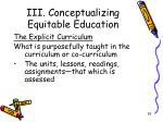 iii conceptualizing equitable education10