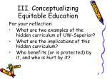 iii conceptualizing equitable education13