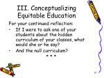 iii conceptualizing equitable education14