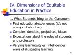 iv dimensions of equitable education in practice2
