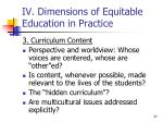 iv dimensions of equitable education in practice4