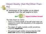 object reality not me other than me