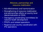 alliances partnerships and resource mobilization