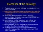 elements of the strategy14