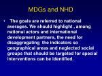 mdgs and nhd11