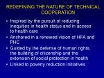 redefining the nature of technical cooperation5