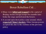 boxer rebellion ctd