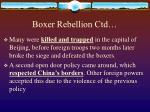boxer rebellion ctd