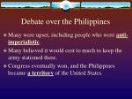 debate over the philippines