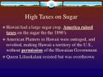 high taxes on sugar
