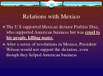 relations with mexico