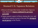 strained u s japanese relations