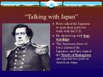 talking with japan