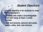 student objective s