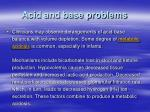 acid and base problems
