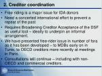 2 creditor coordination