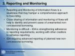 3 reporting and monitoring