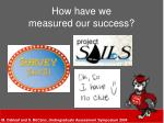 how have we measured our success
