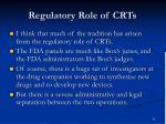 regulatory role of crts