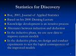 statistics for discovery