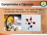 comprimidos e c psulas