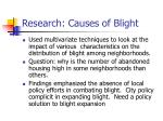 research causes of blight