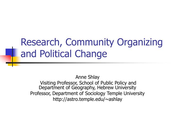 research community organizing and political change n.