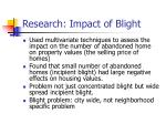 research impact of blight